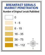 Breakfast Serials Market Penetration legend